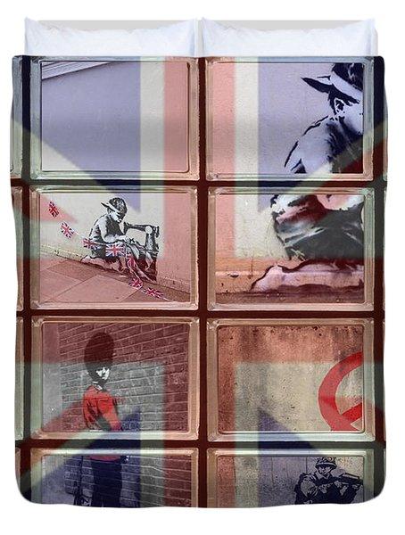 Banksy Street Art Duvet Cover by David French
