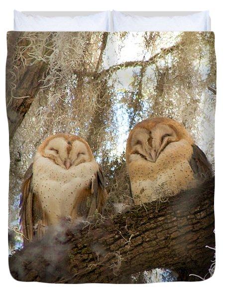 Barn Owls Duvet Cover