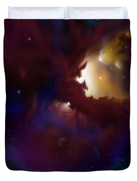 Bat Nebula Duvet Cover