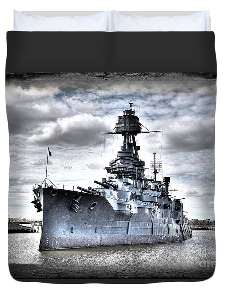 Battleship Texas Duvet Cover