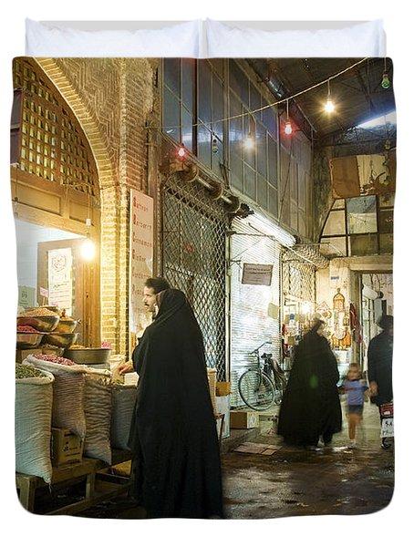 Bazaar Market In Isfahan Iran Duvet Cover