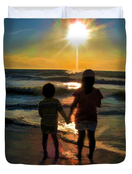 Beach Kids Duvet Cover