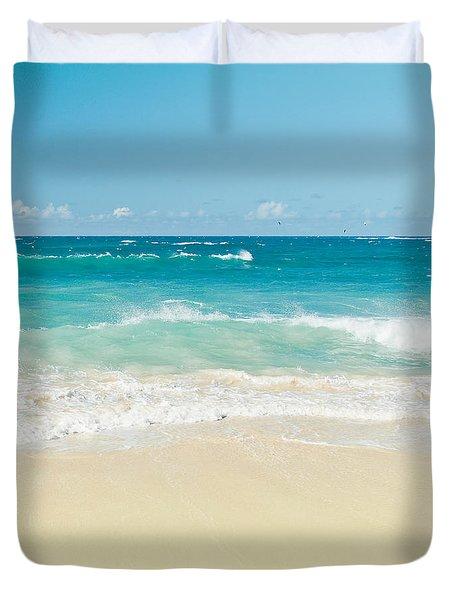 Duvet Cover featuring the photograph Beach Love by Sharon Mau