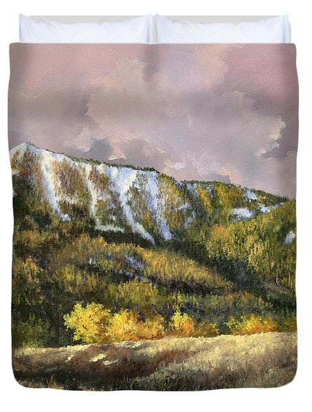 Duvet Cover featuring the painting Bear Claw by Lynne Wright