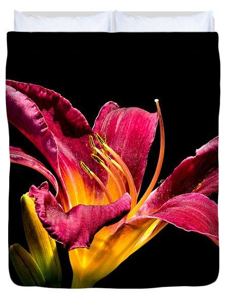 Beauty On The Black #5 Duvet Cover