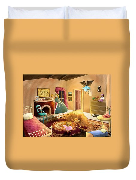 Bedtime With Polly Duvet Cover by Reynold Jay