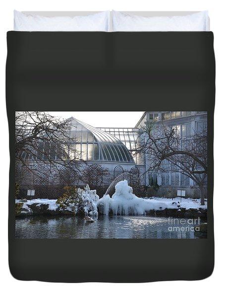 Belle Isle Conservatory Pond 2 Duvet Cover