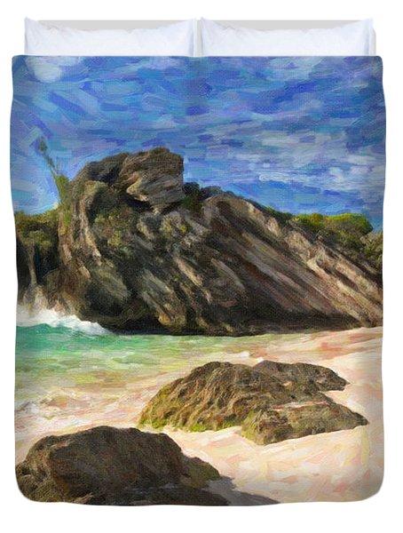 Bermuda Beach Duvet Cover by Verena Matthew