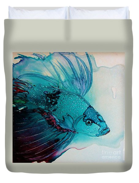 Betta Dragon Fish Duvet Cover