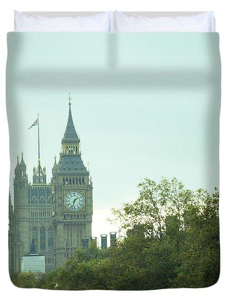 Duvet Cover featuring the photograph Big Ben by Rachel Mirror