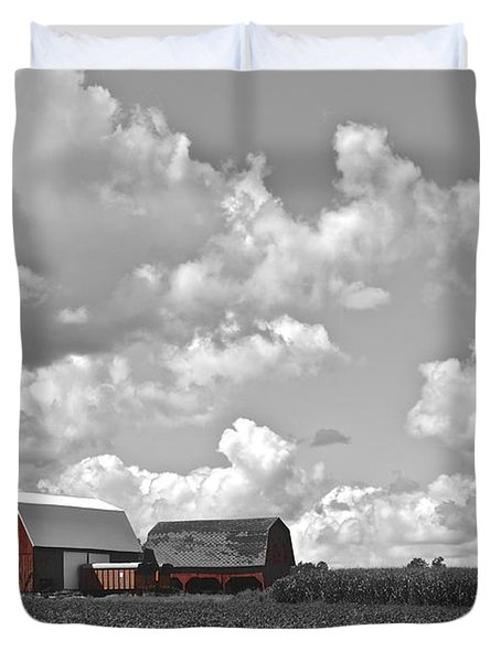 Big Sky Duvet Cover by Frozen in Time Fine Art Photography