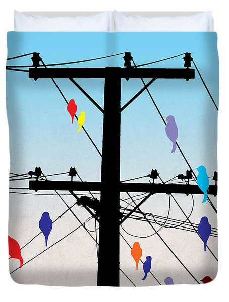 Birds  Duvet Cover by Mark Ashkenazi