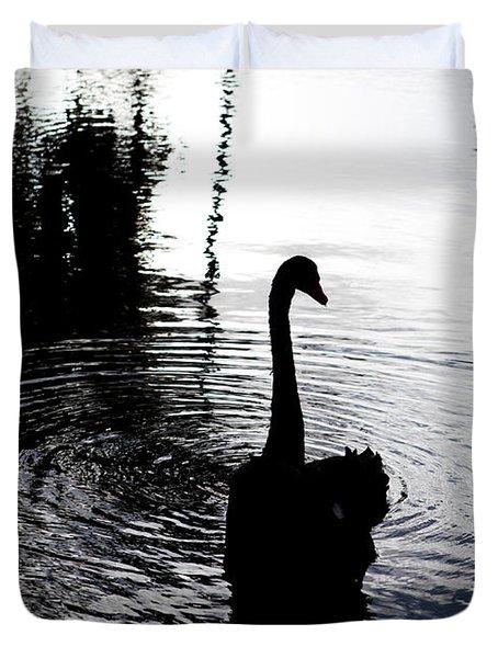 Black Swan Duvet Cover by Roselynne Broussard