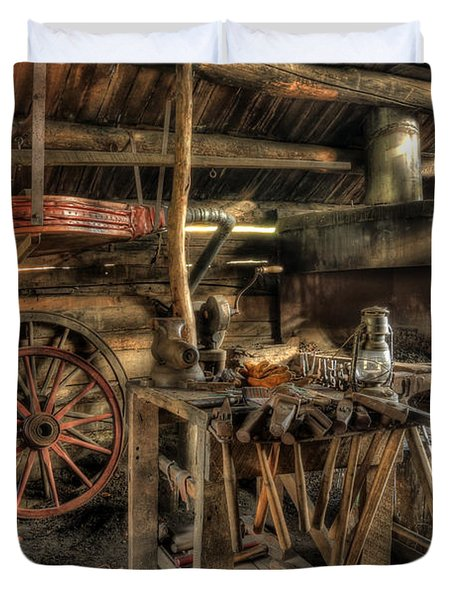 Blacksmith Shop Duvet Cover
