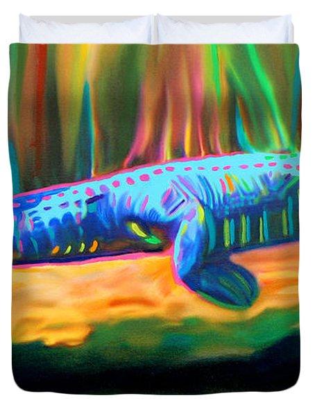 Blue Alligator Duvet Cover