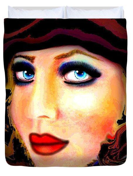 Blue Eyes Duvet Cover by Natalie Holland