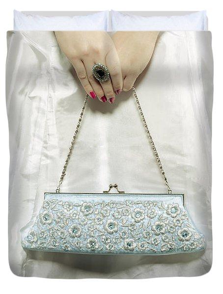 Blue Handbag Duvet Cover by Joana Kruse