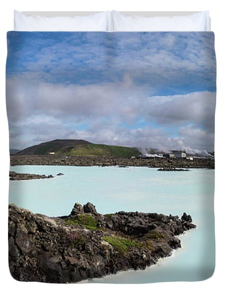 Blue Lagoon With Geothermal Power Duvet Cover