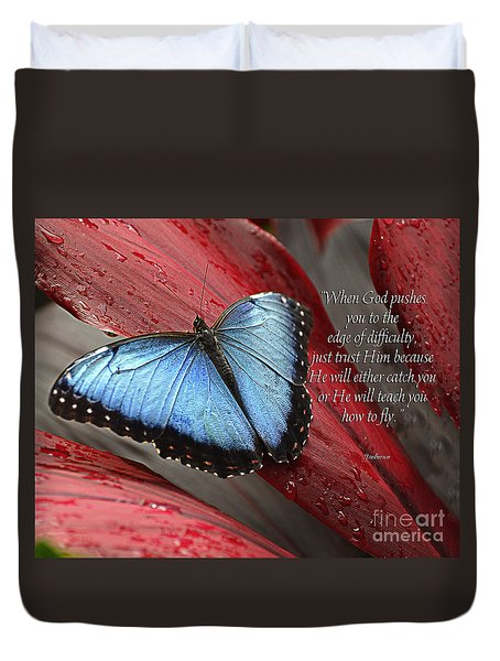 Blue Morpho 2 Duvet Cover