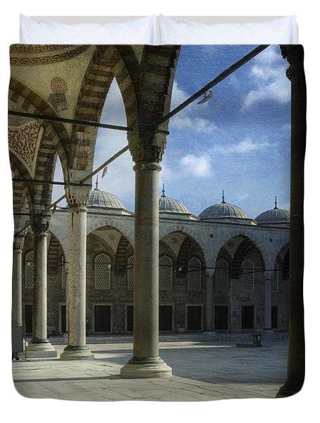 Blue Mosque Courtyard Duvet Cover