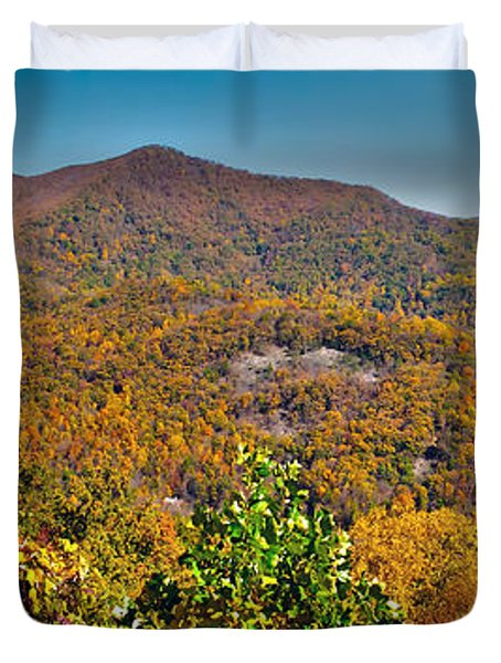 Duvet Cover featuring the photograph Blue Ridge Parkway by Alex Grichenko