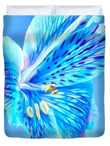 Blue Summer Duvet Cover