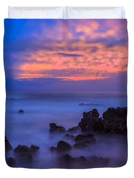 Blue Sunrise 1 Duvet Cover by Leigh Anne Meeks