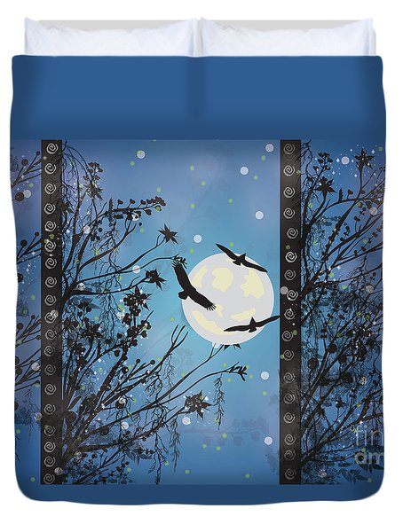 Blue Winter Duvet Cover