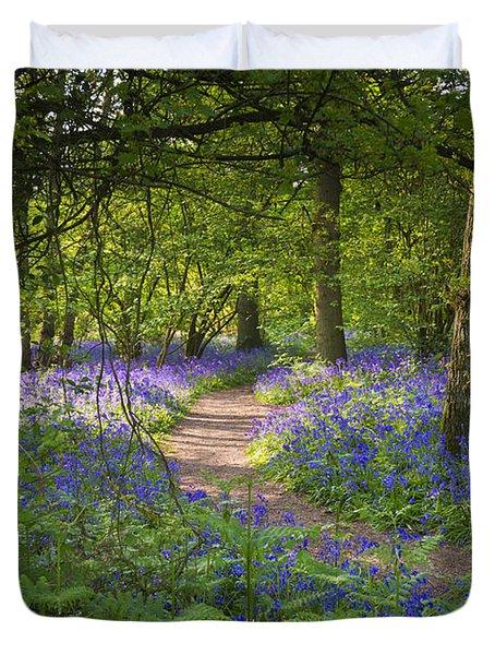 Bluebell Woods Walk Duvet Cover