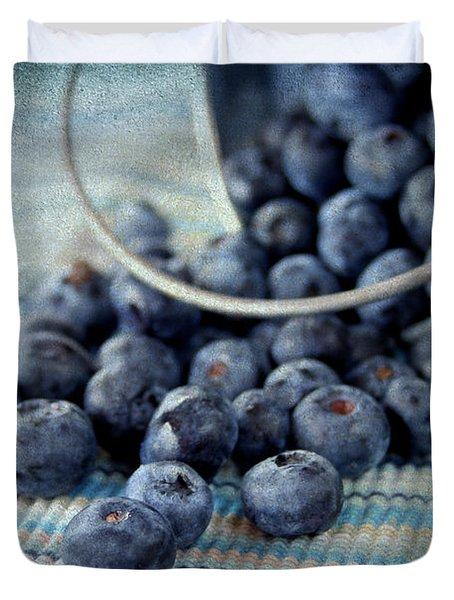 Blueberries Duvet Cover by Darren Fisher