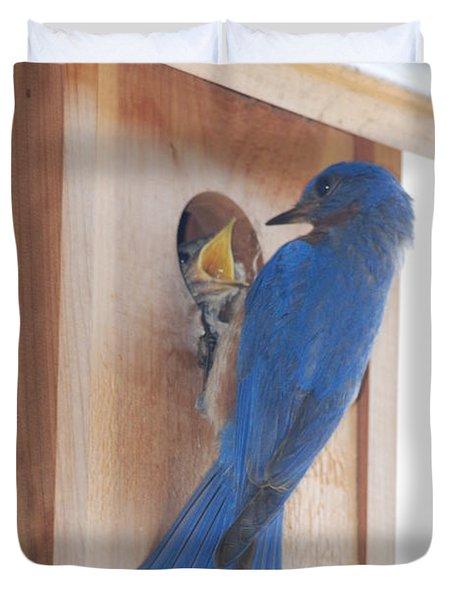 Bluebird Of Happiness Duvet Cover