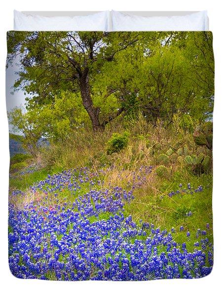 Bluebonnet Meadow Duvet Cover by Inge Johnsson