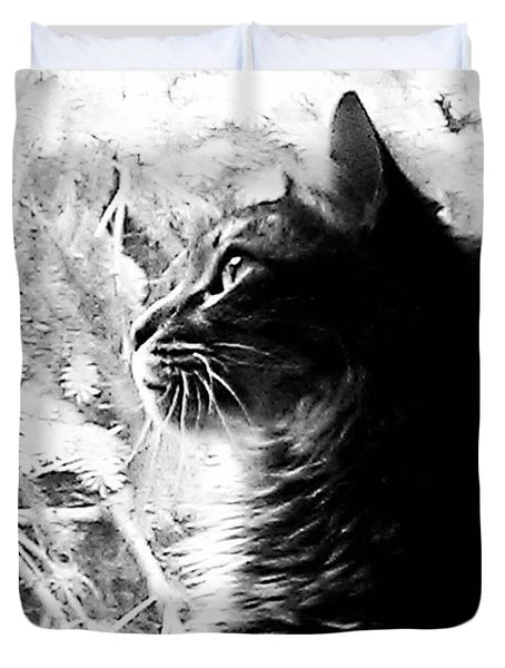 Duvet Cover featuring the photograph Bo by Jacqueline McReynolds