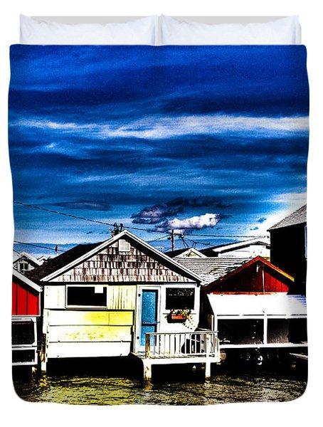 Boathouse Row Duvet Cover
