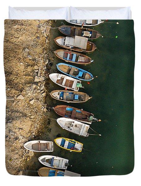 Boats Duvet Cover