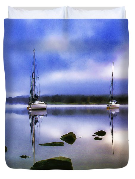 Boats On Ullswater Duvet Cover