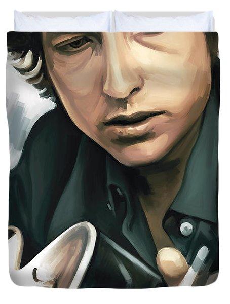Bob Dylan Artwork Duvet Cover by Sheraz A