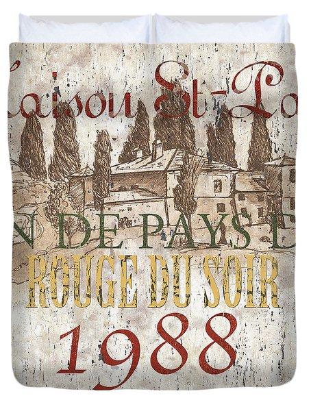 Bordeaux Blanc Label 1 Duvet Cover