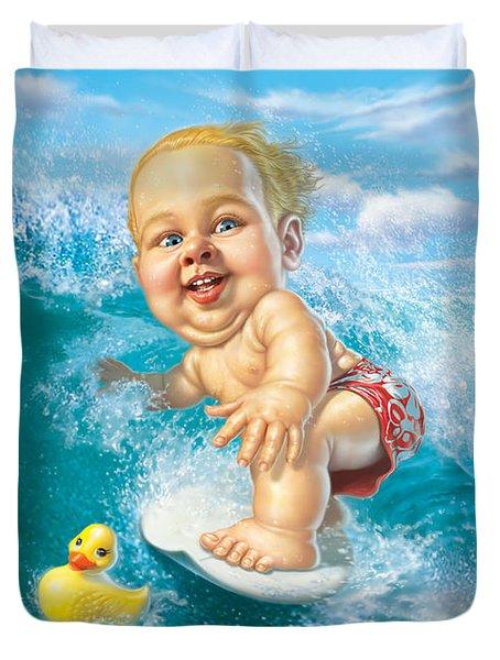 Born To Surf Duvet Cover
