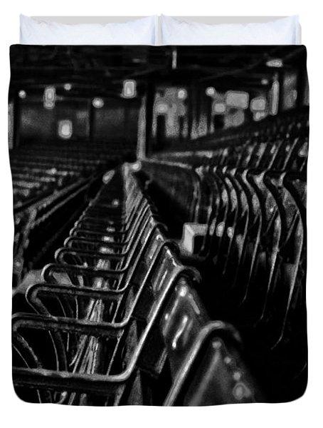 Bostons Fenway Park Baseball Vintage Seats Duvet Cover