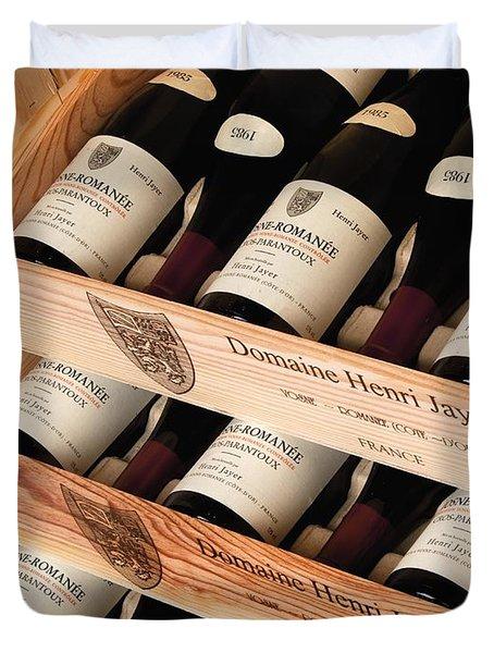 Bottles Of Vosne-romanee Premier Cru Cros Parantoux Duvet Cover by Anonymous