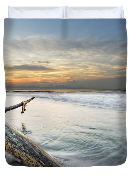 Bough In Ocean Duvet Cover