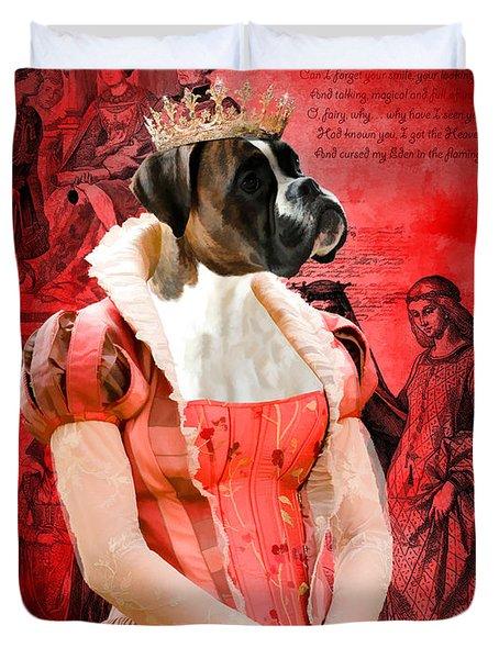 Boxer Art Canvas Print Duvet Cover