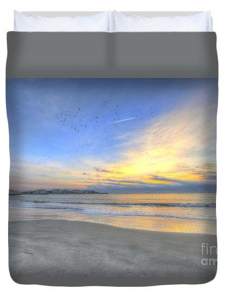 Breach Inlet Sunrise Duvet Cover