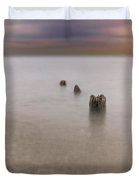 Breakwater Duvet Cover by Peter Lakomy