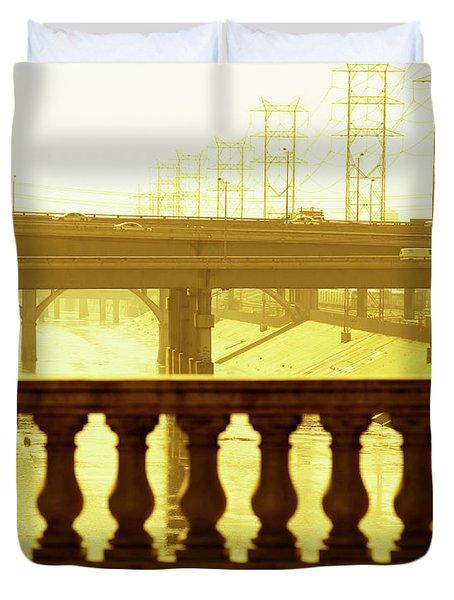 Bridges Over The Los Angeles River, Los Duvet Cover