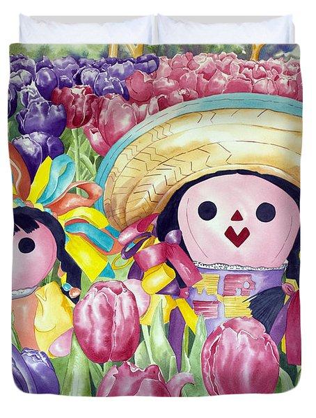 Brings May Flowers Duvet Cover