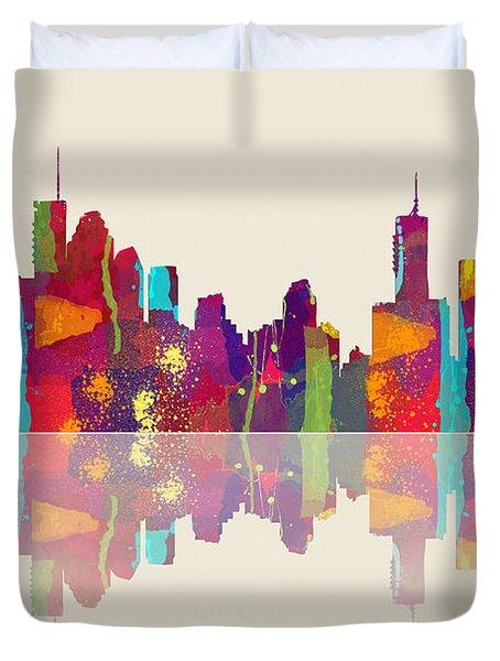 Brisbane Australia Skyline Duvet Cover