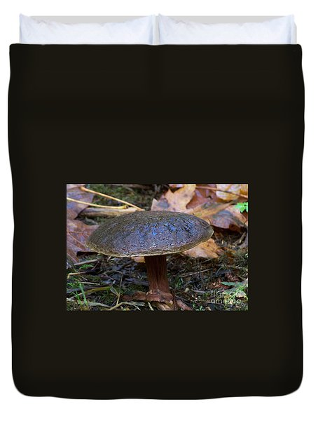Duvet Cover featuring the photograph Brown Toadstool by Chalet Roome-Rigdon