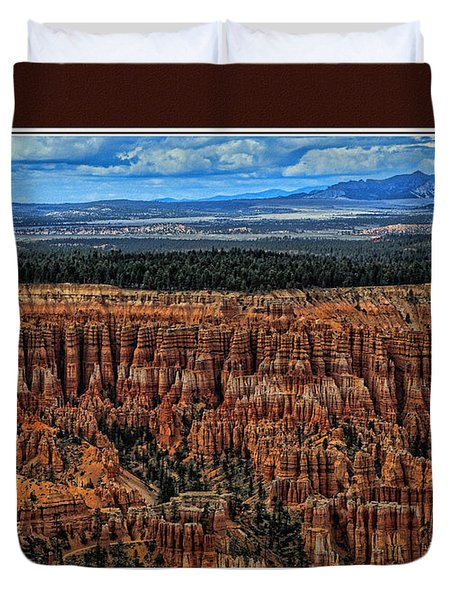 Duvet Cover featuring the photograph Bryce Canyon II by Tom Prendergast